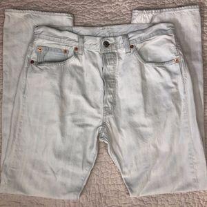 Levi's 501 White Jeans